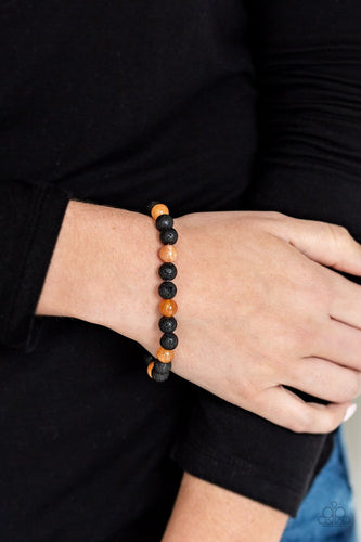 Paparazzi Urban Bracelet - Top Ten Zen - Orange