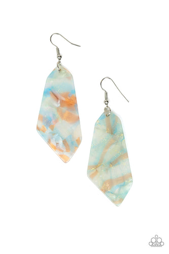 Paparazzi Earring  - Walking On WATERCOLORS - Blue