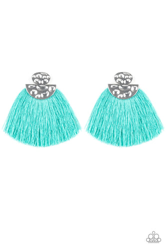 Paparazzi Earrings- Make Some PLUME - Blue