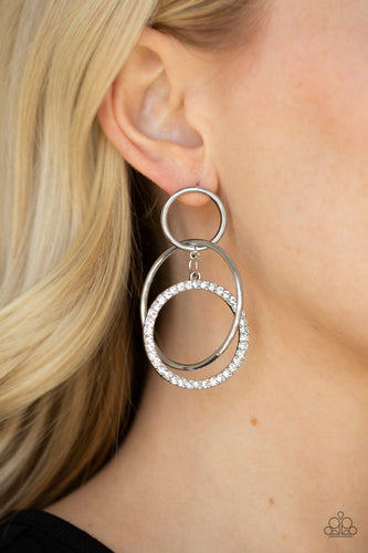 Paparazzi Earring - Metro Bliss White Post