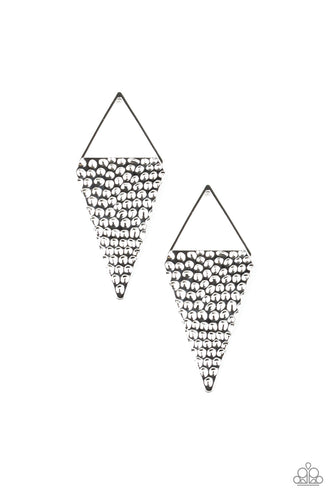 Paparazzi Earring - Have A Bite - Silver -New Release