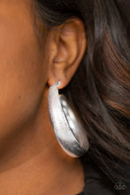 Load image into Gallery viewer, Paparazzi Earring  - HOOPS! I Did It Again - Silver