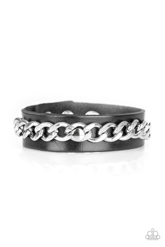 Paparazzi  Urban Bracelet - Be The CHAINge - Silver