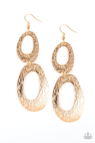 Paparazzi Earrings - Ive SHEEN It All - Gold