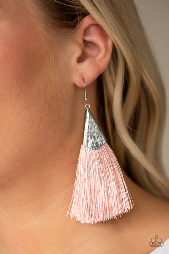 Paparazzi Earring  - In Full PLUME - Pink -New Release