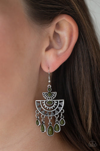 Paparazzi Earring  - SOL Searching - Green