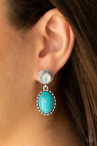 Paparazzi Earring - Western Oasis - Blue Post