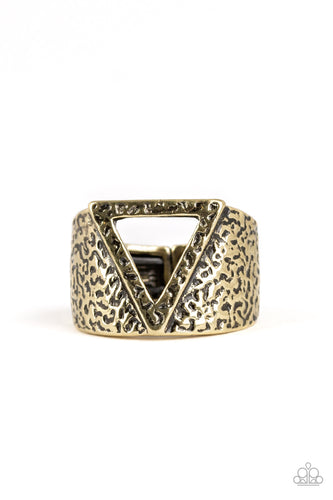 Paparazzi Ring - Triathlon - Brass - New Release