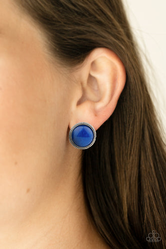Paparazzi Earring - Desert Dew - Blue -New Release