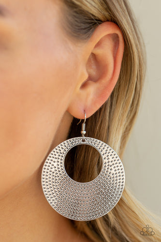Paparazzi Earring - Dotted Delicacy - Silver