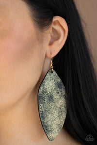 Paparazzi Earring - Serenely Smattered - Black