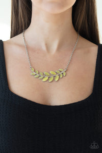 Paparazzi Necklace - Frosted Foliage - Yellow