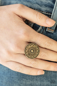 Paparazzi Ring - One in a MEDALLION - Brass