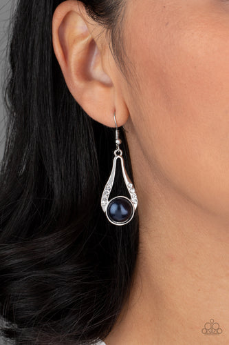 Paparazzi Earring - HEADLINER Over Heels - Blue