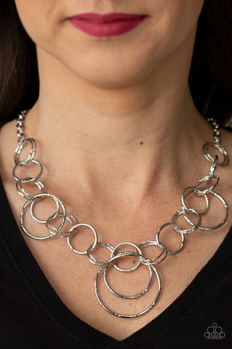Paparazzi Necklace - Ringing Relic - Silver