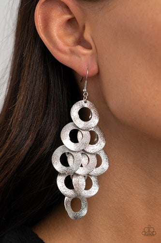 Paparazzi Earring - Scattered Shimmer - Silver