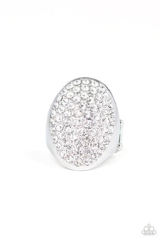 Paparazzi Ring - Bling Scene - White