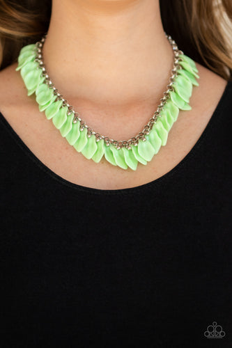 Paparazzi Necklace  - Super Bloom - Green