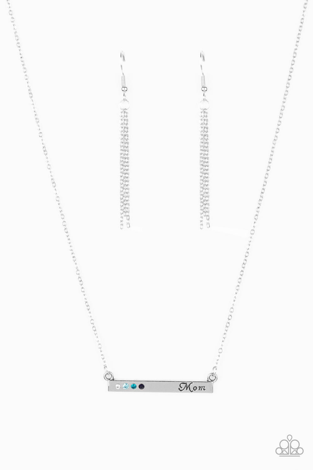 Paparazzi Necklace - Moms Do It Better - Blue