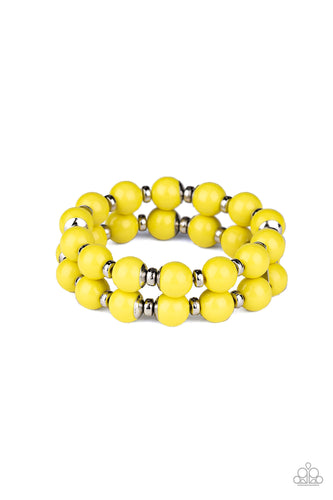 Paparazzi Bracelet - Bubble Blast Off - Yellow