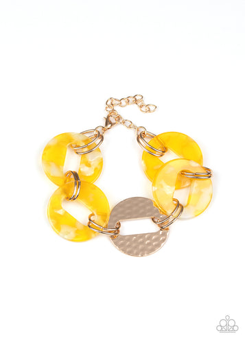Paparazzi Bracelet - Retro Recharge - Yellow
