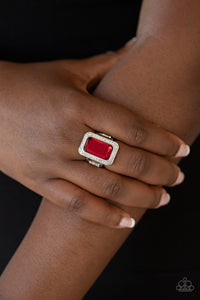 Paparazzi Ring - Crown Jewel Jubilee - Red
