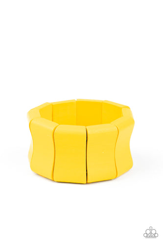 Paparazzi Bracelet - Caribbean Couture - Yellow
