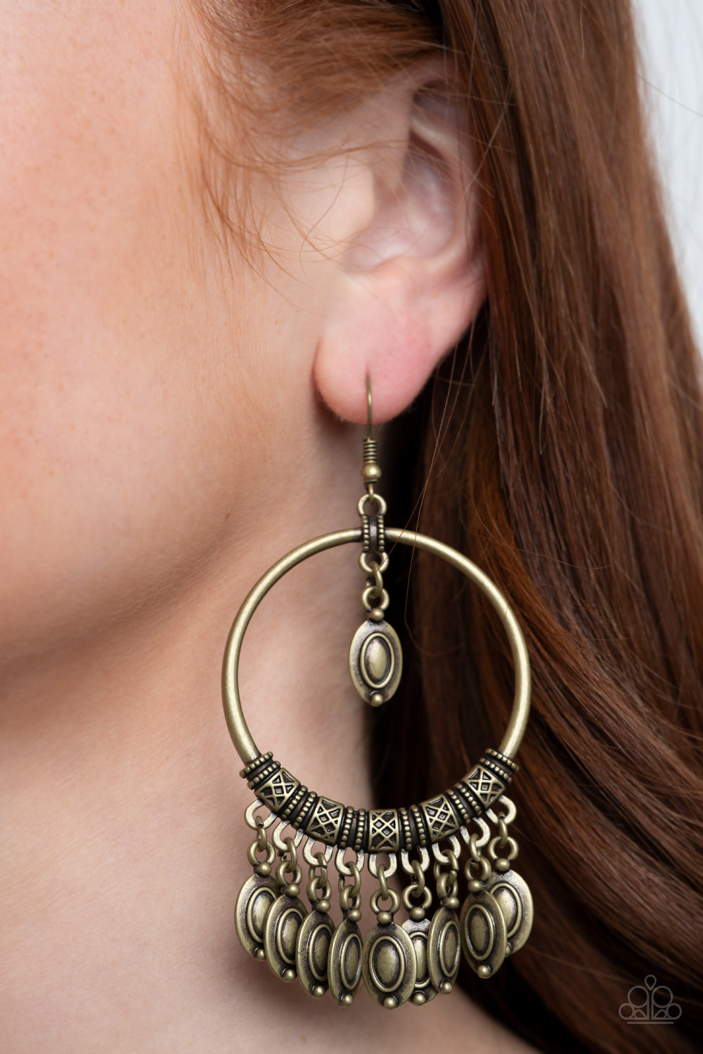 Paparazzi Earring - Metallic Harmony - Brass - New Release