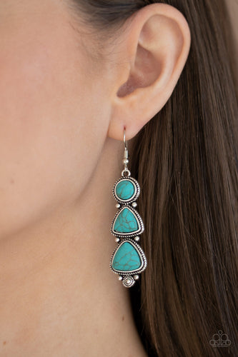 Paparazzi Earring - New Frontier - Blue
