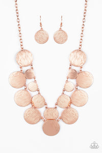 Paparazzi Necklace - Stop and Reflect - Copper