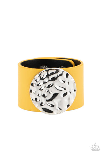 The Future Looks Bright - Yellow - Paparazzi Bracelet - New Release