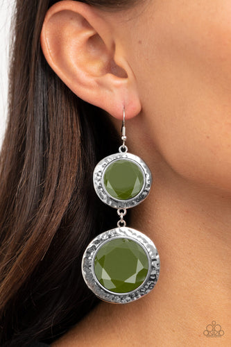 Paparazzi Earring - Thrift Shop Stop - Green