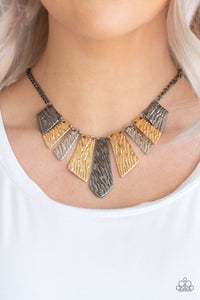 Paparazzi Necklace - Texture Tigress - Multi