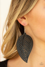 Load image into Gallery viewer, Paparazzic Wooden Earring  - Amazon Zen - Black