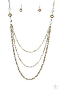 Paparazzi Necklace - RITZ It All - Brass