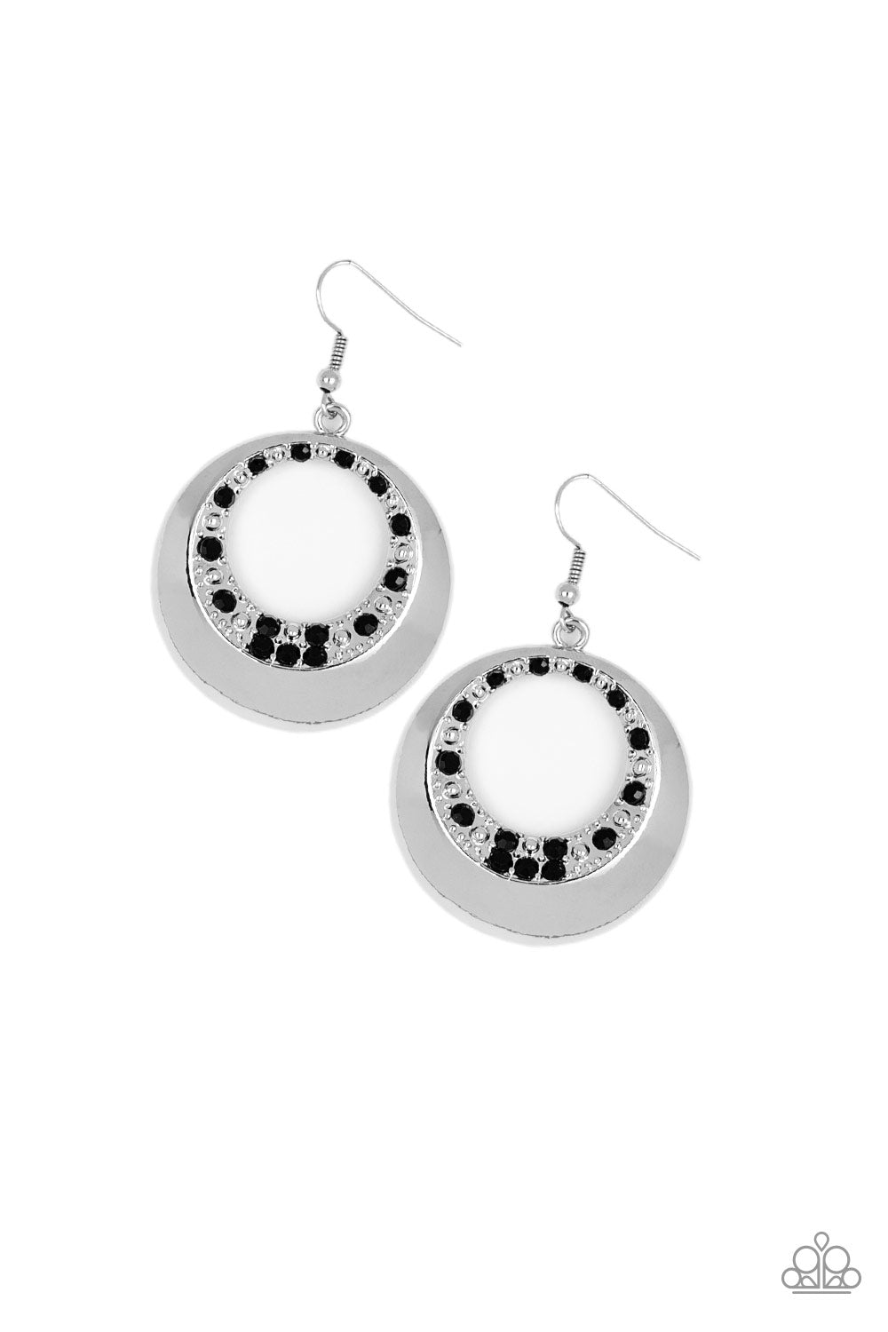 Paparazzi Earrings - Ringed In Refinement - Black