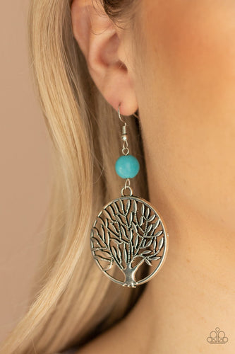 Paparazzi Earring  - Bountiful Branches - Blue -New Release