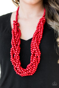 Paparazzi Necklace - Tahiti Tropic - Red