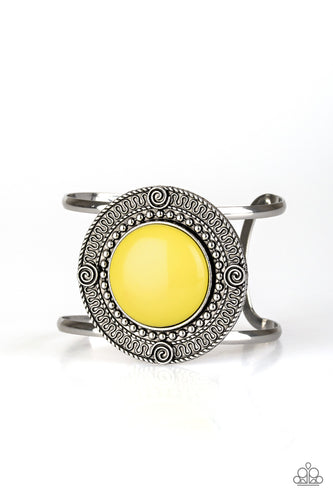 Paparazzi Bracelet - Tribal Pop - Yellow