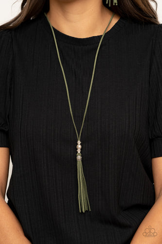 Paparazzi Necklace - Hold My Tassel - Green