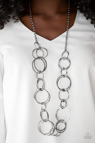 Natural Born Ringleader - Black Paparazzi Necklace