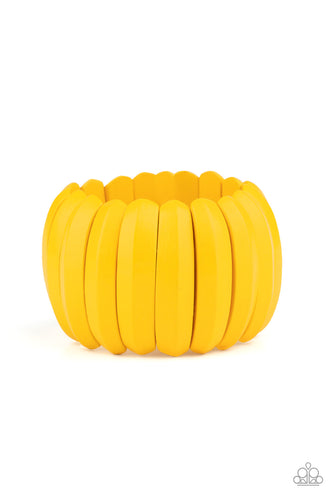 Paparazzi Bracelet - Colorfully Congo - Yellow