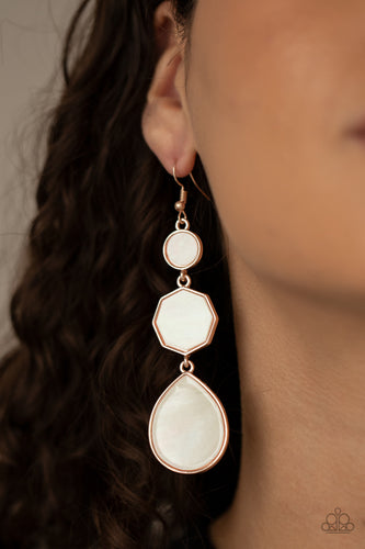 Progressively Posh - Rose Gold - Paparazzi Earring