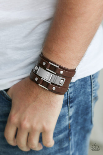 Paparazzi Urban Men Bracelet - Rural Ranger - Brown