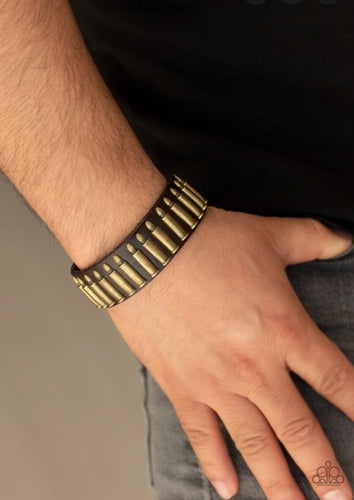 Paparazzi Urban Bracelet - Armed and Dangerous - Brass
