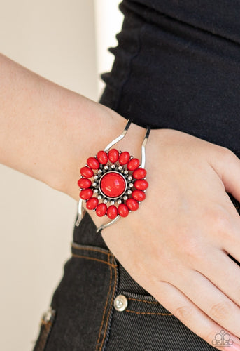 Paparazzi Bracelet - Posy Pop - Red