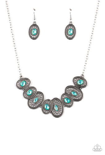 Paparazzi Necklace- Trinket Trove - Green
