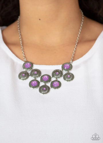 Paparazzi Necklace  - Whats Your Starr Sign - Purple