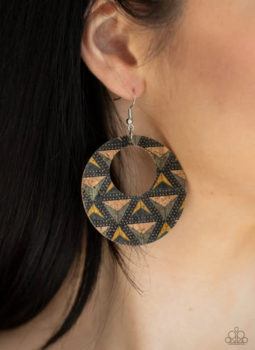 Paparazzi Earring - Put A Cork In It - Multi