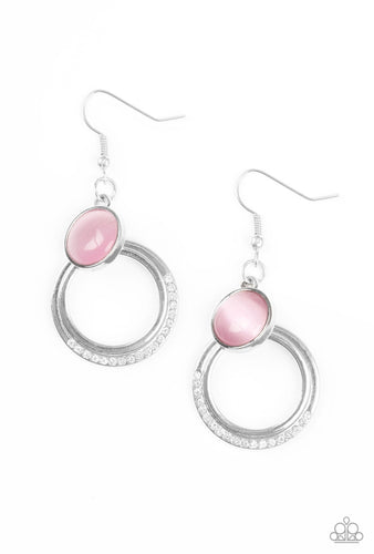 Paparazzi Earring  - Dreamily Dreamland - Pink